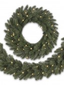 10' BH Vermont White Spruce Artificial Christmas Garland - Clear (Christmas Tree)