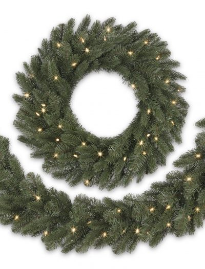 10 bh vermont white spruce artificial christmas garland clear christmas - Cheap Christmas Garland