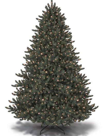 4.5' Blue Spruce Pre-lit Artificial Christmas Trees with Clear Lights (Christmas Tree)