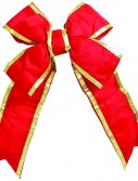 Artificial Red-Gold Nylon Outdoor Christmas Bow For Christmas 2014