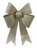 24 inch Champagne Sequin Christmas Bow For Christmas 2014
