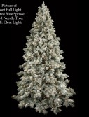 Light Frosted Blue Spruce Christmas Tree For Christmas 2014
