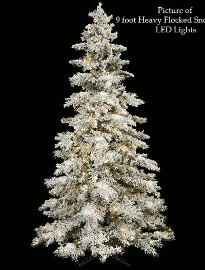 Heavy Flocked Snow Christmas Tree For Christmas 2014