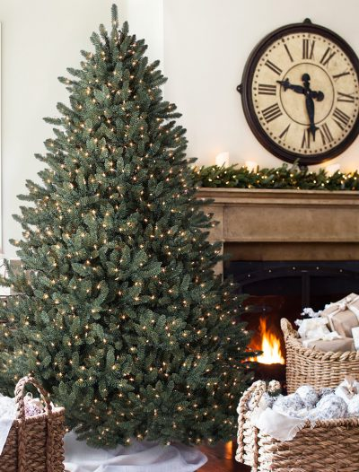 6.5' Balsam Hill Blue Spruce Artificial Christmas Tree - Clear (Christmas Tree)