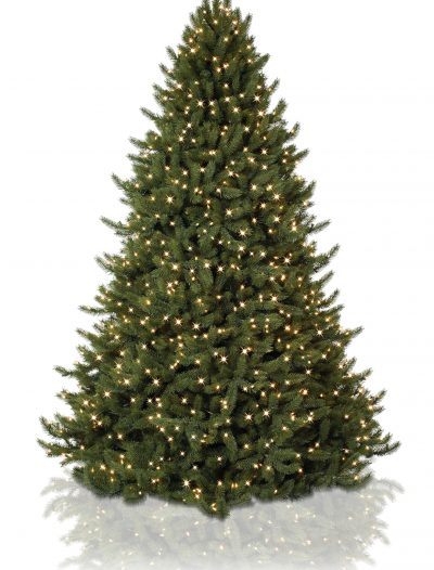 7.5' Vermont White Spruce Pre Lit Artificial Christmas Trees with Clear Lights (Christmas Tree)