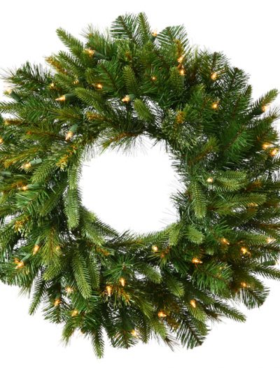 Vickerman A118631LED 30 in. Cashmere Wreath 30WmWht B-O Timer (Christmas Tree)