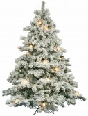Vickerman Flocked Alaskan Clear Pre-lit Christmas Tree (Christmas Tree)