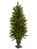 4 foot Artificial Christmas Tree in Urn: Clear Lights For Christmas 2014