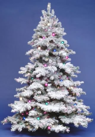 Vickerman A806383 9 x 73 Flocked Alaskan Tree 900MU-G50 (Christmas Tree)