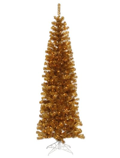 Antique Gold Slim Christmas Tree For Christmas 2014