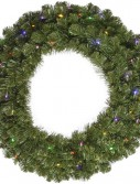 Vickerman 48 in. Pre-Lit LED Grand Teton Wreath - Clear (Christmas Tree)
