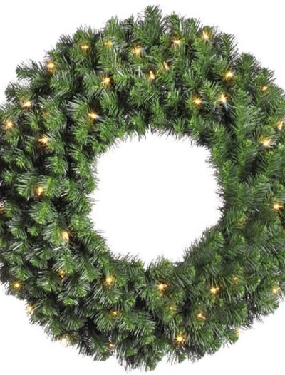 30 In Prelit Douglas Fir Wreath With Clear Lights (Christmas Tree)