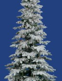 Vickerman 10 ft. Flocked Slim Utica Fir Multi LED Christmas Tree (Christmas Tree)