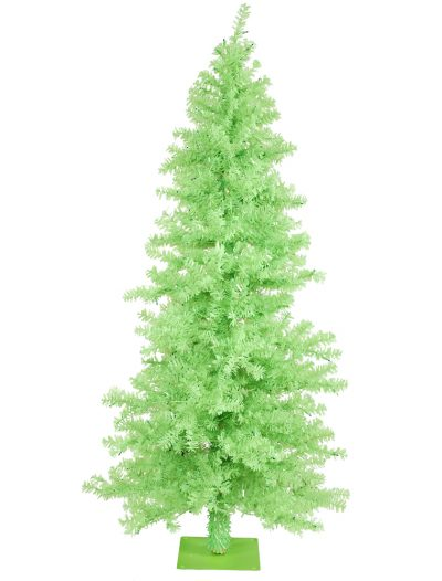 Chartreuse Wide Cut Christmas Tree For Christmas 2014