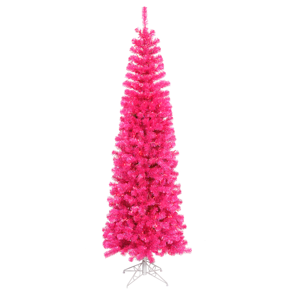 Pink Pencil Christmas Tree - Christmas Trees