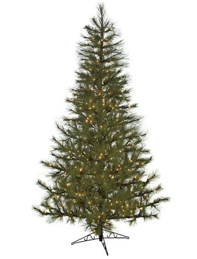 8.5 Foot Slim Japanese Red Pine Christmas Tree: Clear Lights For Christmas 2014