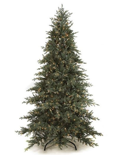9 foot Slim Cilician Fir Christmas Tree: Clear Lights For Christmas 2014