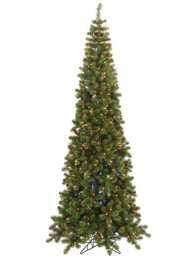 7.5 Pencil Pine Christmas Tree with Color Changing LED Lights For Christmas 2014