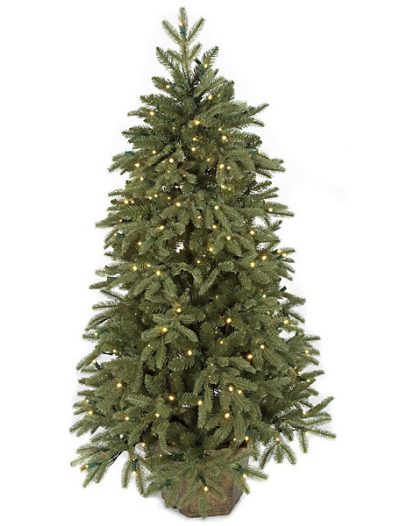 4.5 foot Plastic Blue Spruce Christmas Tree: LED Lights For Christmas 2014