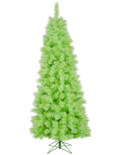 7.5 foot Lime Cashmere Pine Pencil Christmas Tree For Christmas 2014