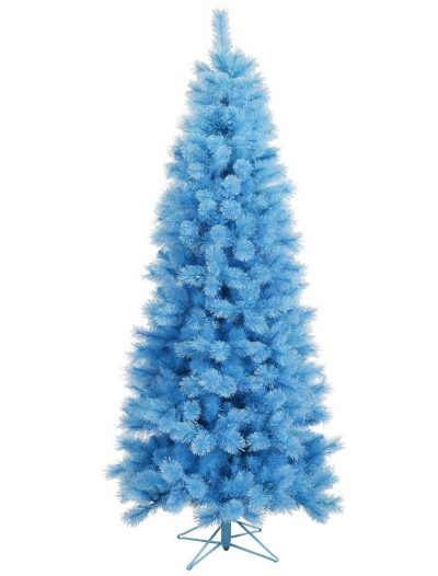 7.5 foot Baby Blue Cashmere Pine Pencil Christmas Tree For Christmas 2014