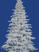 Vickerman A893645 4.5 ft. x 46 in. Flocked White Spruce 498Tips (Christmas Tree)