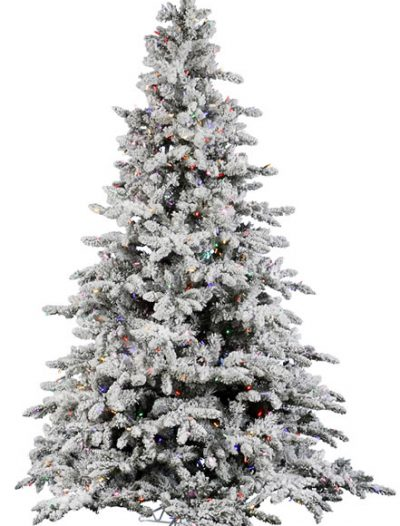 10-Foot Vickerman Flocked Utica Fir Pre-Lit Christmas Tree w/900 Multi Lights (Christmas Tree)