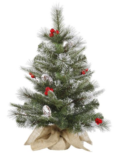 Frosted Mixed Pine Christmas Tree with Berries For Christmas 2014