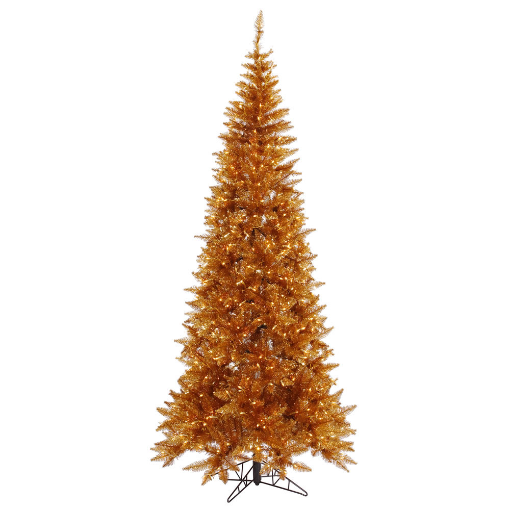 slim copper fir christmas tree - Copper Christmas Decorations