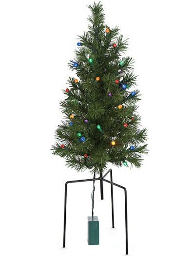 2 foot Valley Pine Lawn Christmas Tree with 12 inch Stakes: Battery LED Lights For Christmas 2014
