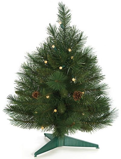 2 foot Mixed Pine Christmas Tree: LED Lights - Battery Operated For Christmas 2014