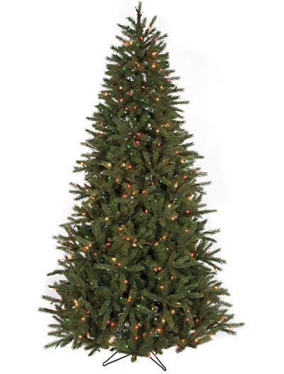 7.5 foot Eastern Fir Christmas Tree: Multi-Colored Lights For Christmas 2014