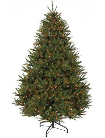 7.5 foot Mariana Fir Christmas Tree - Fluff Free: Multi-Colored Lights For Christmas 2014