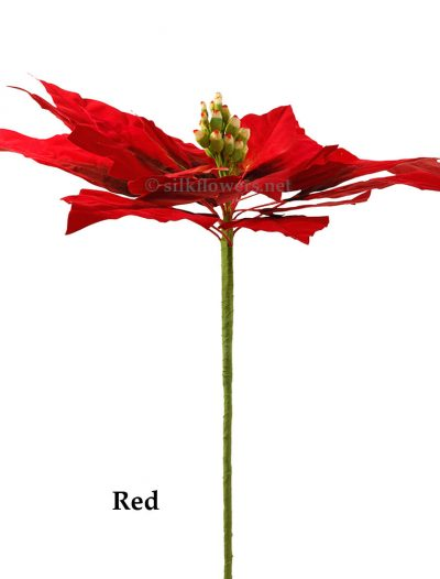 24 inch Wide Giant Poinsettia: Multiple Colors - CLOSEOUT For Christmas 2014
