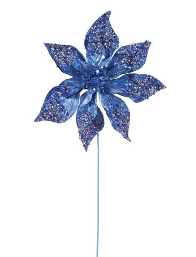 21 inch Artificial Beaded Poinsettia Stem For Christmas 2014