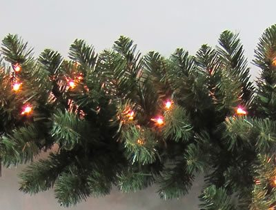 50 Foot x 14 Inch Staylit Artificial Christmas Garland