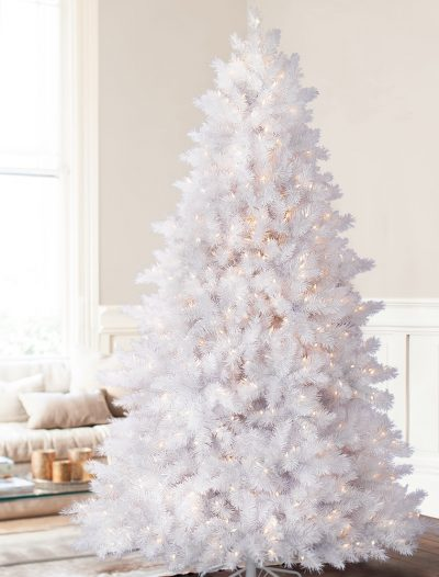 6.5' Balsam Hill Classic White Artificial Christmas Tree - Clear (Christmas Tree)