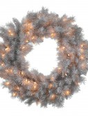 Artificial Silver White Pine Wreath For Christmas 2014