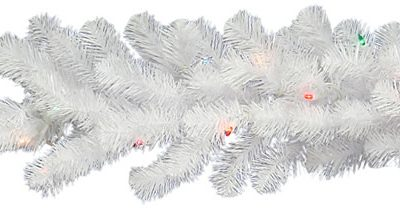 Vickerman 9 ft. Pre-Lit LED Crystal White Garland (Christmas Tree)