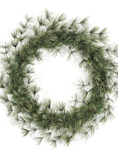 24 Inch Hard Needle Butte Pine Wreath For Christmas 2014