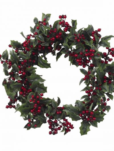 24 inch Holly Berry Wreath For Christmas 2014