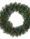 24 inch Battery Operated Fiber Optic Wreath For Christmas 2014
