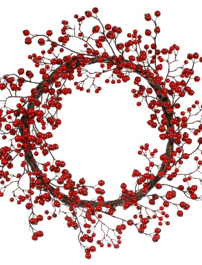 22 inch Berry Outdoor Wreath For Christmas 2014