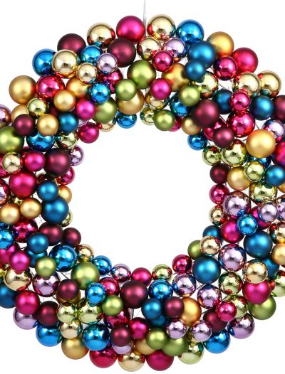 36 inch Ornament Ball Wreath For Christmas 2014