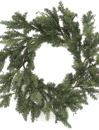 28 inch Plastic Cypress Single Ring Wreath For Christmas 2014