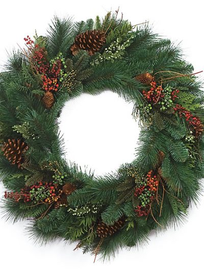 30 Inch Mix Pine Wreath For Christmas 2014