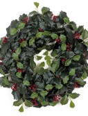 19 Inch Holly Wreath with Red Berries: Set of (2) For Christmas 2014