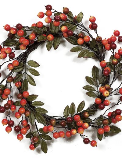 22 inch Red Crabapple Wreath: Set of (2) For Christmas 2014