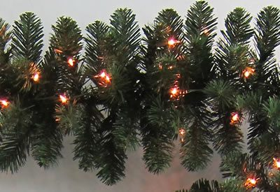 9 Foot x 12 Inch Staylit Artificial Christmas Garland