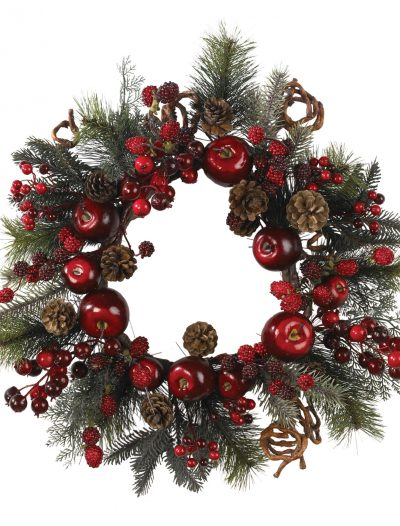 22 inch Apple Berry Wreath For Christmas 2014